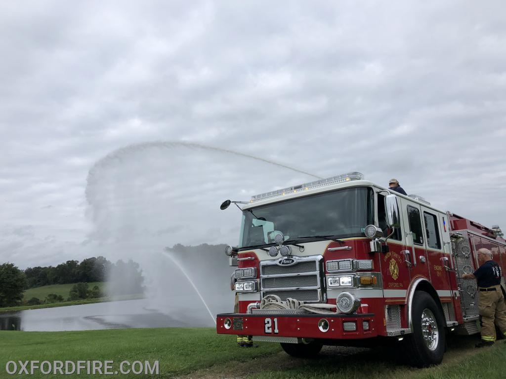 Engine 1 flowing around 1600 gallons per minute.