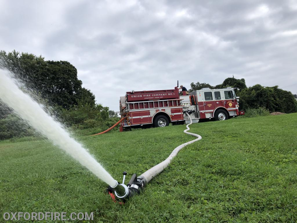"Our Akron Mercury Portable Monitor nozzle.  Flowing 600 gom with a 1.5"" tip."