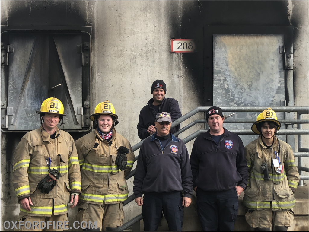 Front Left to Right- J.P. Bennett, Melanie Kempf, Instructor Dave McCormick, Instructor Shane Kinsey (Chief 21), Luis Vivero  Back - Instructor Brian Kelley (Assistant 21)