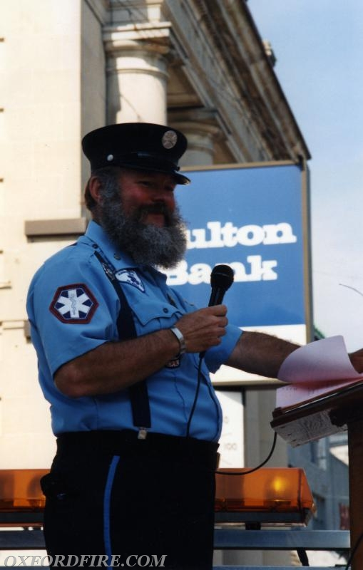 Joe took the to mic to announce the passing units during the 125th Anniversary parade.